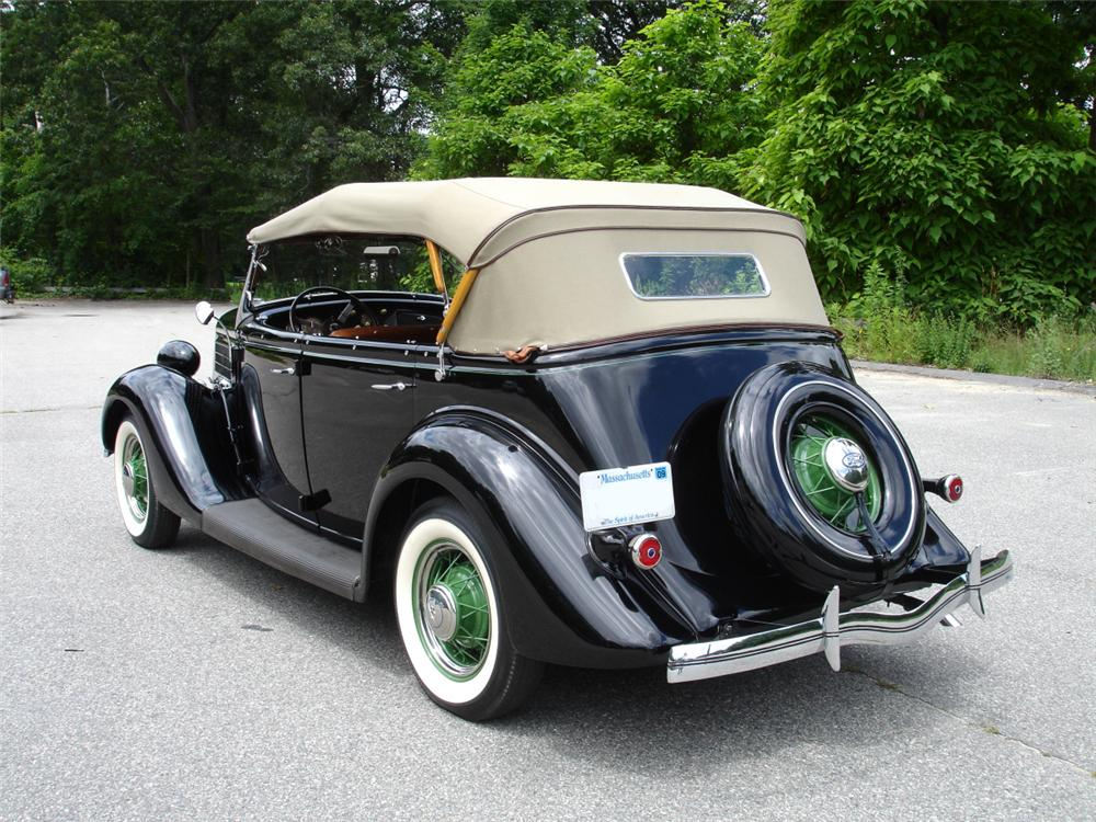 1935 FORD MODEL 48 4 DOOR PHAETON - Rear 3/4 - 81631