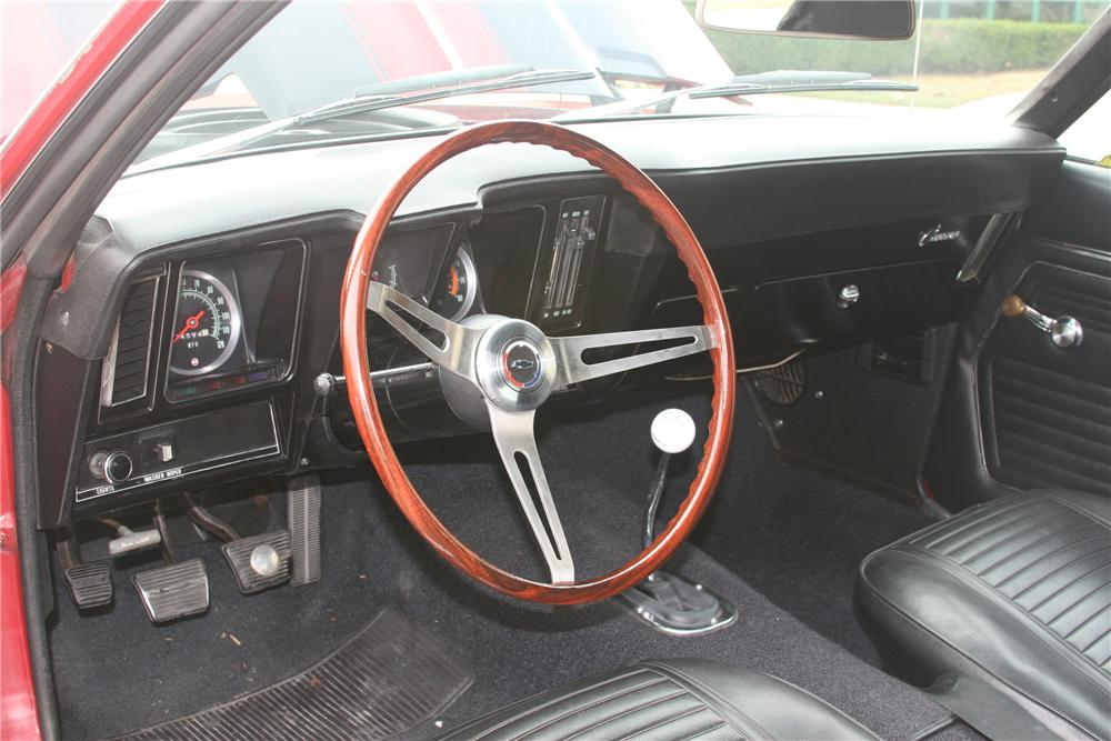 1969 CHEVROLET CAMARO Z/28 2 DOOR COUPE - Interior - 81637