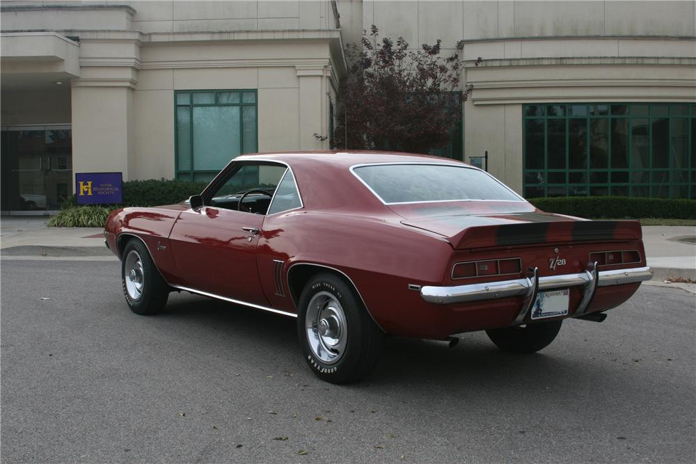 1969 CHEVROLET CAMARO Z/28 2 DOOR COUPE - Rear 3/4 - 81637