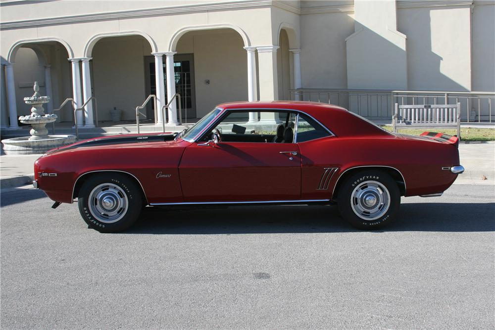 1969 CHEVROLET CAMARO Z/28 2 DOOR COUPE - Side Profile - 81637