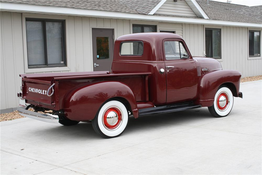 1951 CHEVROLET 3100 PICKUP - Rear 3/4 - 81690