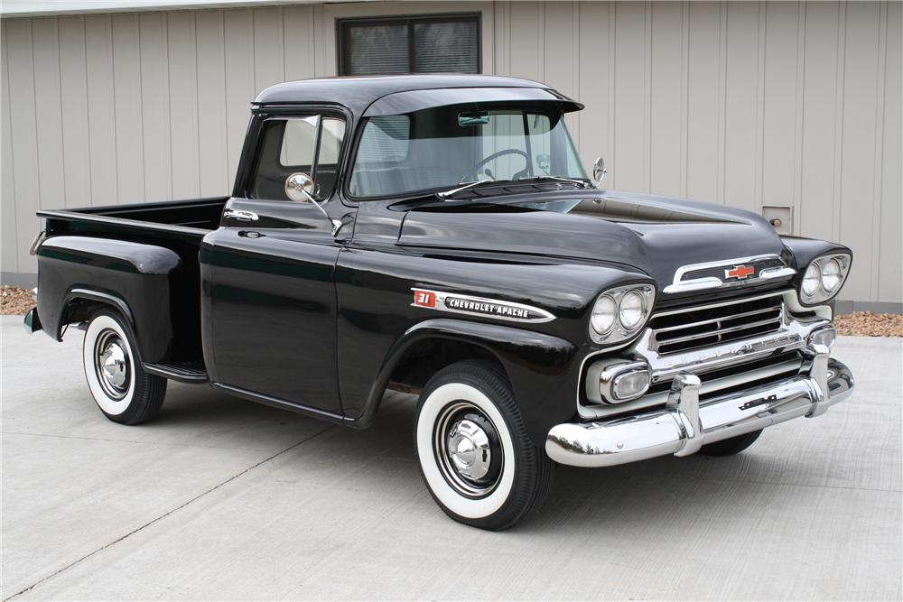 1959 CHEVROLET APACHE PICKUP - Front 3/4 - 81693