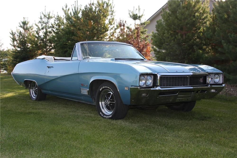 1968 BUICK GS400 CONVERTIBLE - Front 3/4 - 81696