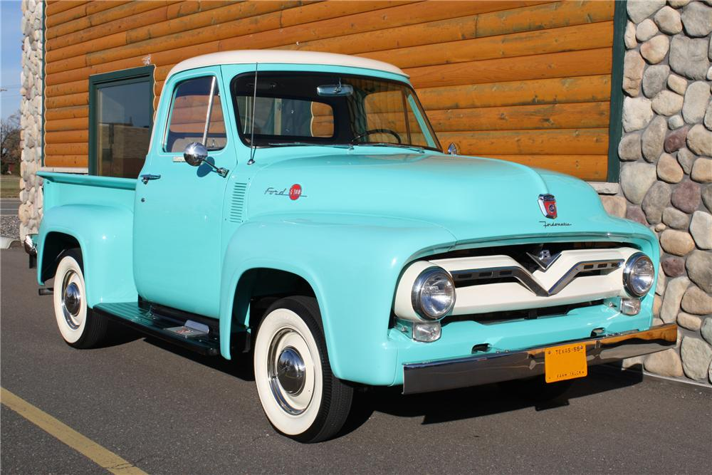 1955 FORD F-100 PICKUP - Front 3/4 - 81705