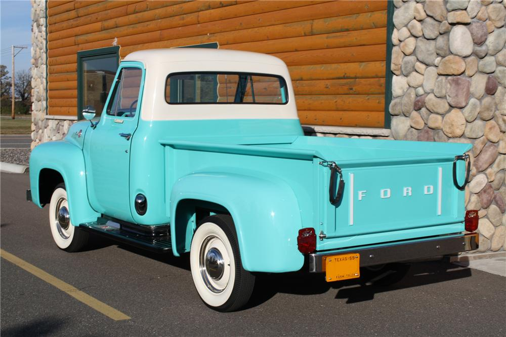 1955 FORD F-100 PICKUP - Rear 3/4 - 81705