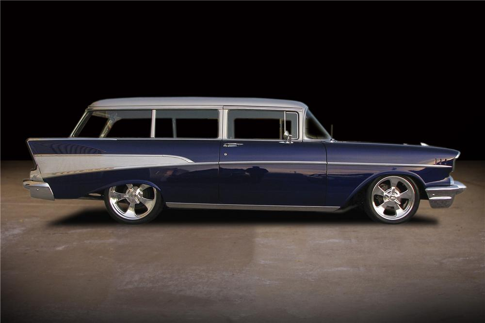 1957 CHEVROLET 210 CUSTOM 2 DOOR WAGON - Side Profile - 81734