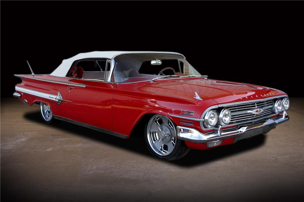 1960 CHEVROLET IMPALA CUSTOM CONVERTIBLE - Front 3/4 - 81735