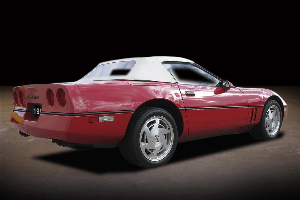 1988 CHEVROLET CORVETTE CONVERTIBLE - Rear 3/4 - 81737