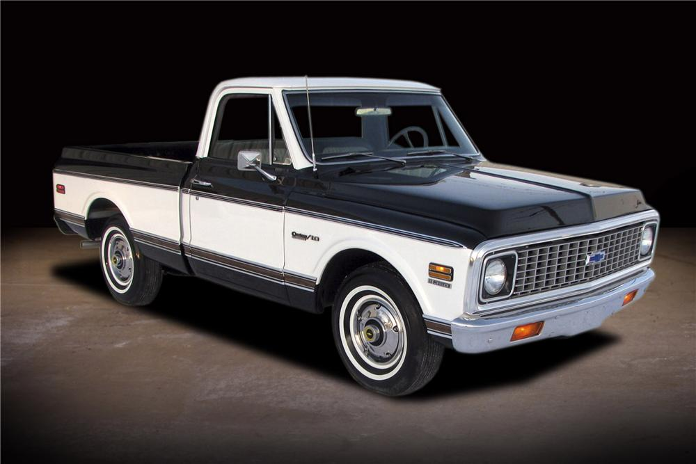 1971 CHEVROLET C-10 SHORT BED PICKUP - Front 3/4 - 81740