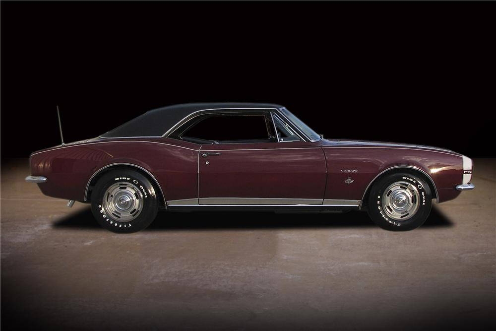 1967 CHEVROLET CAMARO RS COUPE - Side Profile - 81741