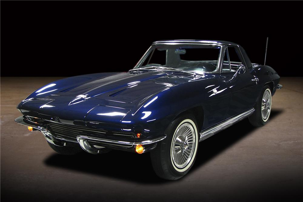 1964 CHEVROLET CORVETTE CONVERTIBLE - Front 3/4 - 81743