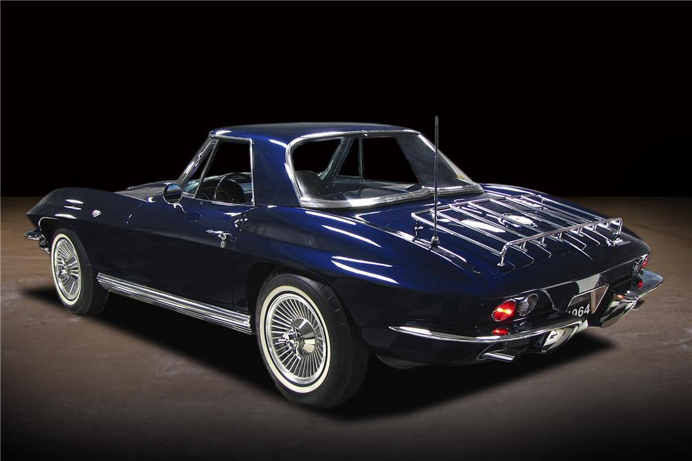 1964 CHEVROLET CORVETTE CONVERTIBLE - Rear 3/4 - 81743
