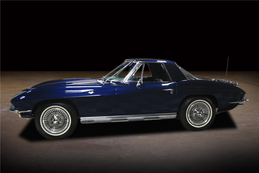 1964 CHEVROLET CORVETTE CONVERTIBLE - Side Profile - 81743