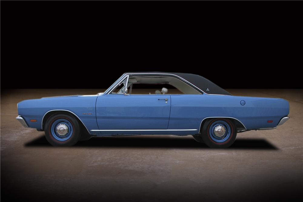 1969 DODGE DART GTS 2 DOOR HARDTOP - Side Profile - 81744