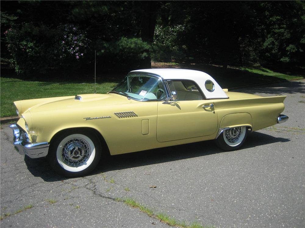 1957 FORD THUNDERBIRD E CONVERTIBLE - Side Profile - 81755
