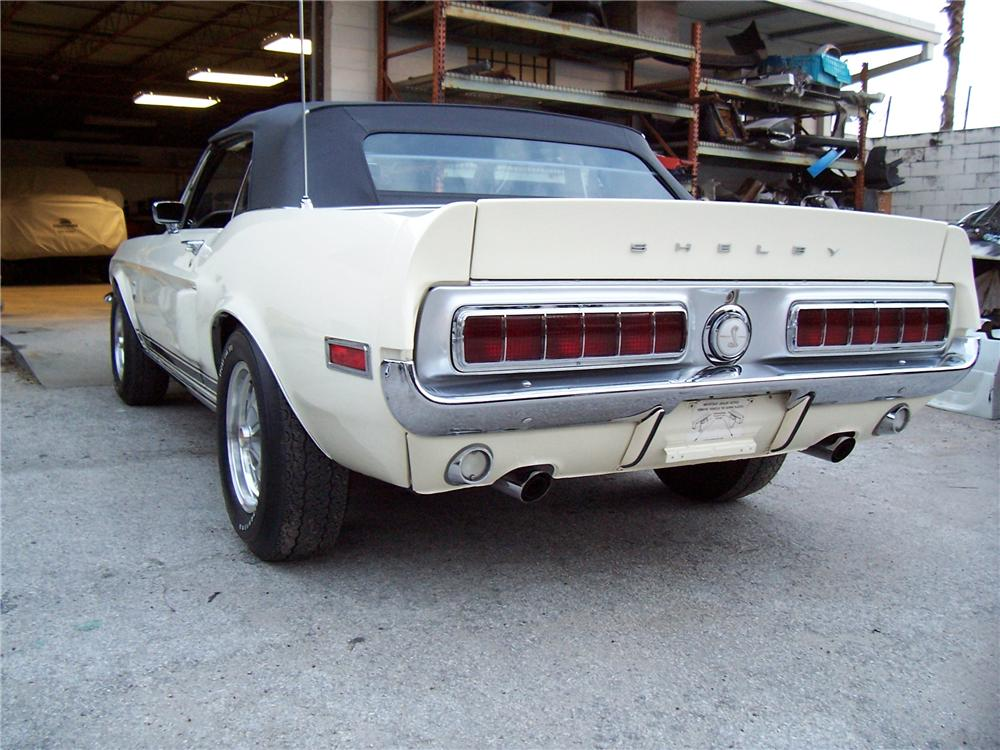 1968 SHELBY GT500 CONVERTIBLE - Rear 3/4 - 81757