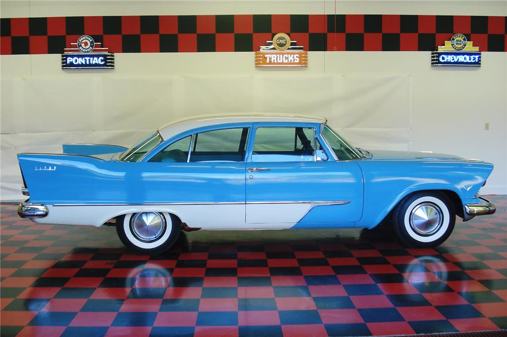 1957 PLYMOUTH SAVOY 2 DOOR COUPE - Side Profile - 81758