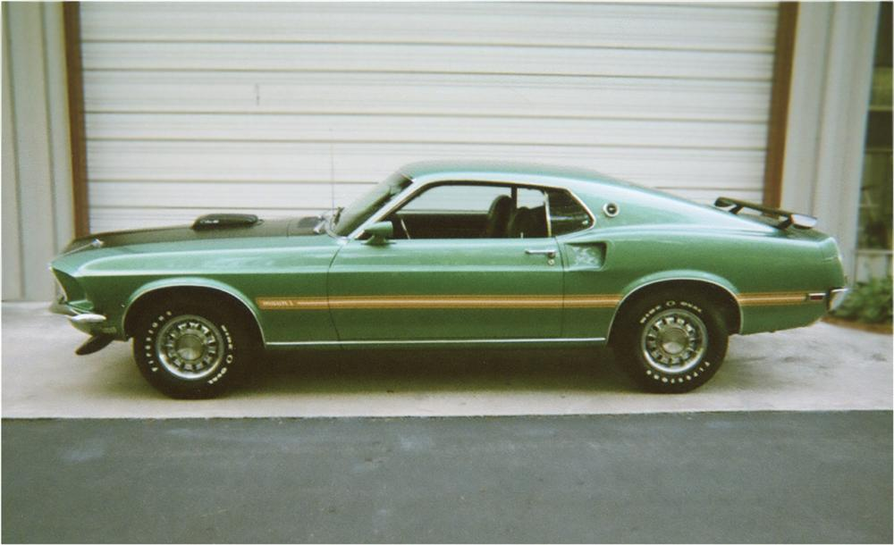 1969 FORD MUSTANG MACH 1 428 CJ FASTBACK - Side Profile - 81767