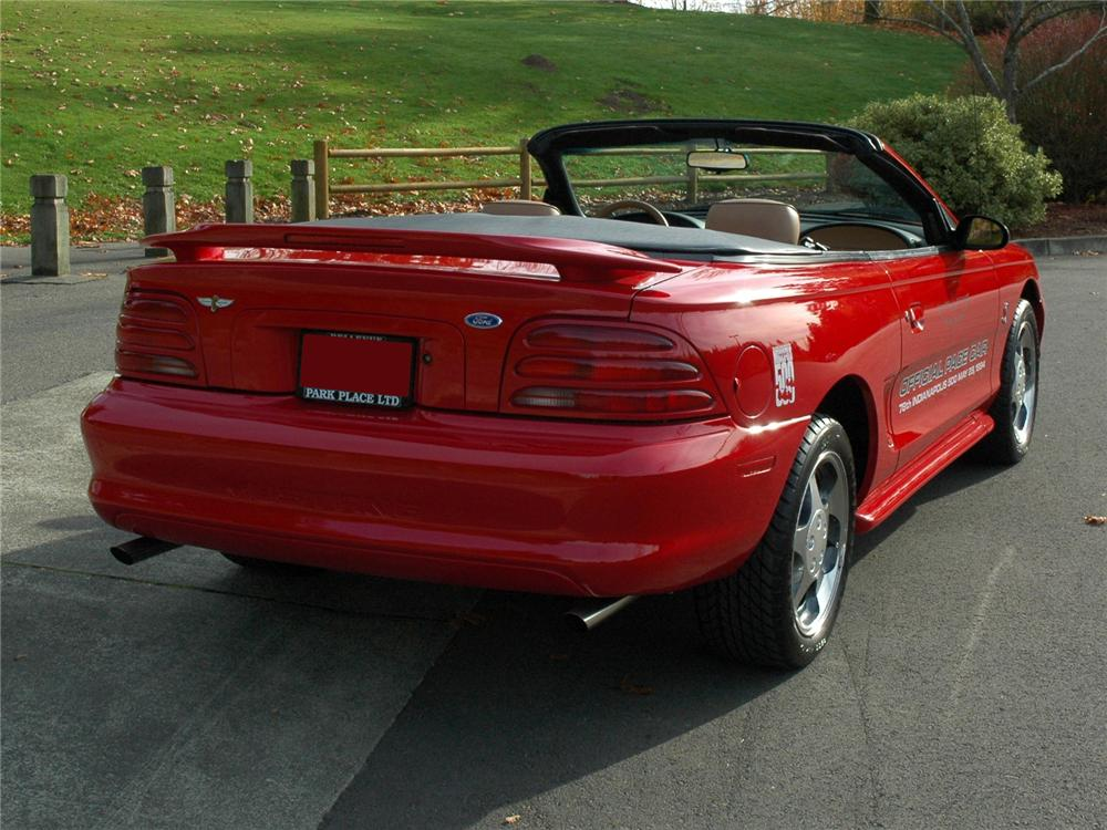 1994 FORD MUSTANG COBRA INDY PACE CAR CONVERTIBLE - Rear 3/4 - 81772
