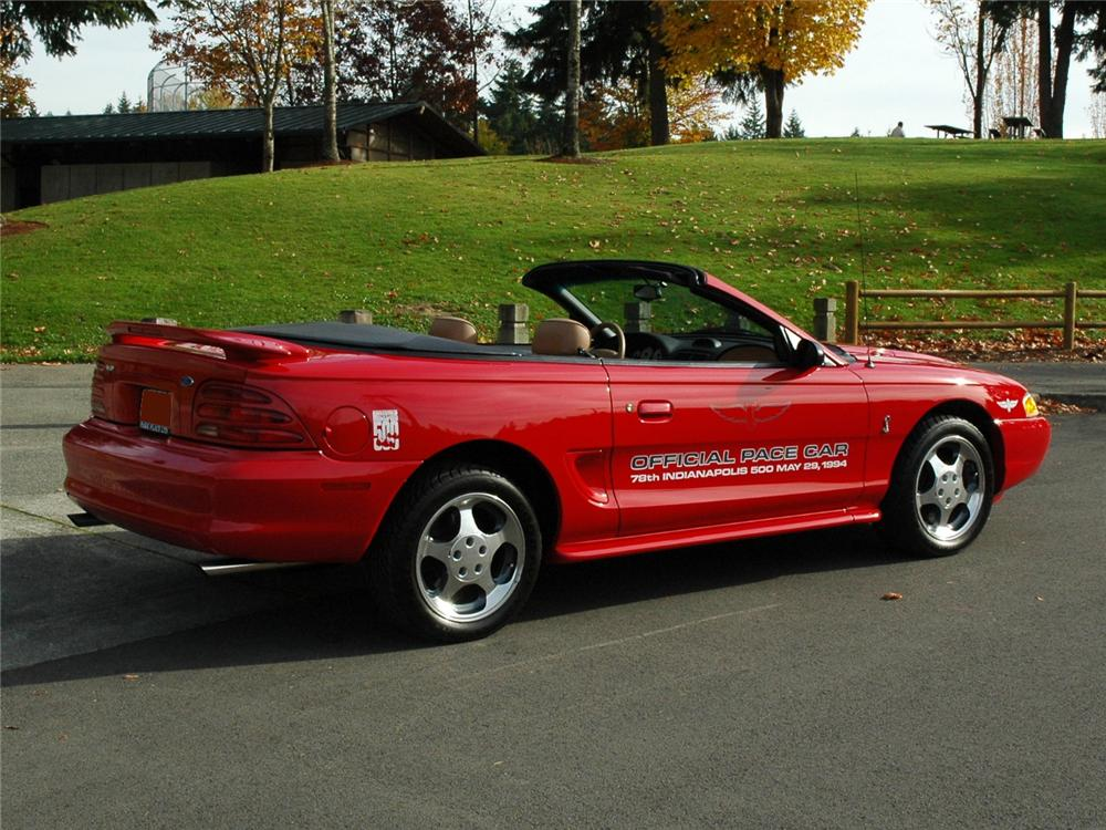 1994 FORD MUSTANG COBRA INDY PACE CAR CONVERTIBLE - Side Profile - 81772