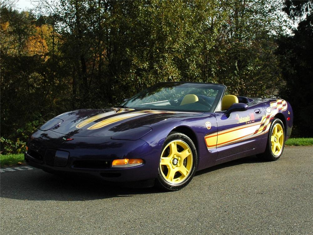 1998 CHEVROLET CORVETTE INDY PACE CAR CONVERTIBLE - Front 3/4 - 81773