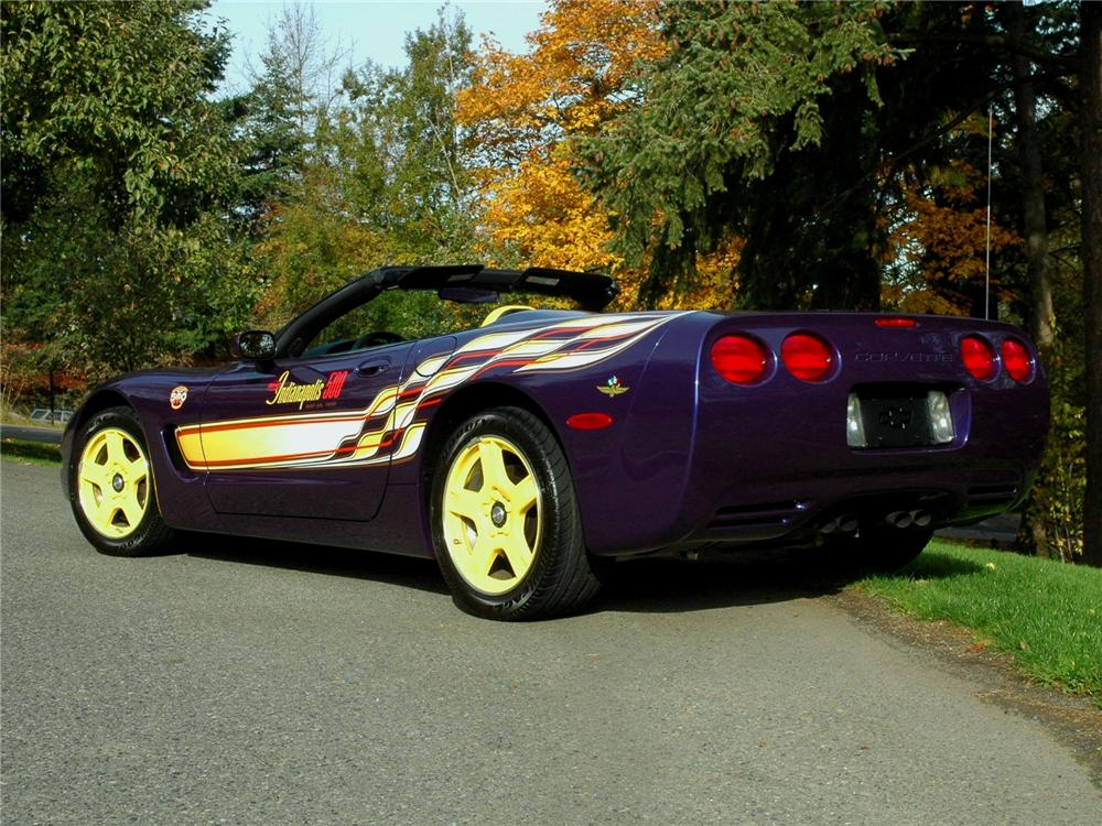 1998 CHEVROLET CORVETTE INDY PACE CAR CONVERTIBLE - Rear 3/4 - 81773