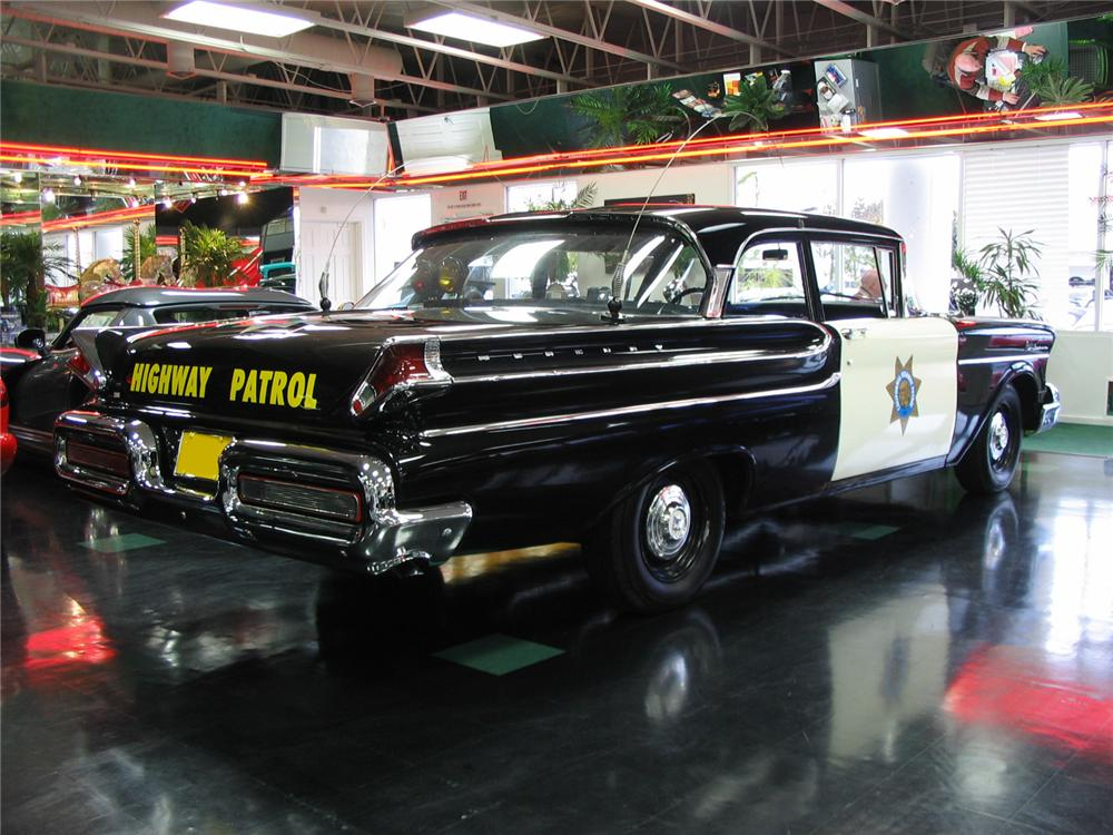 1957 MERCURY MONTEREY HIGHWAY PATROL CAR RE-CREATION - Rear 3/4 - 81774
