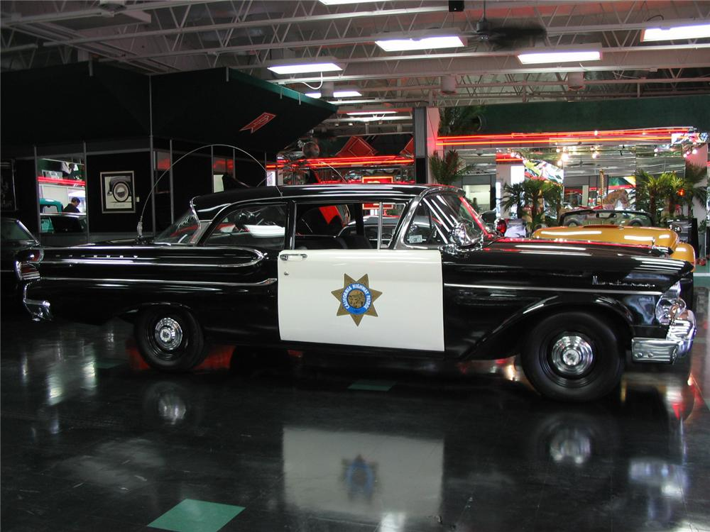 1957 MERCURY MONTEREY HIGHWAY PATROL CAR RE-CREATION - Side Profile - 81774