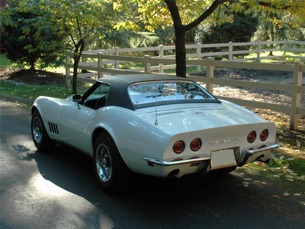 1968 CHEVROLET CORVETTE CONVERTIBLE - Rear 3/4 - 81776