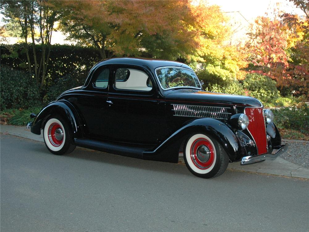 1936 FORD 5 WINDOW CUSTOM COUPE - Front 3/4 - 81780