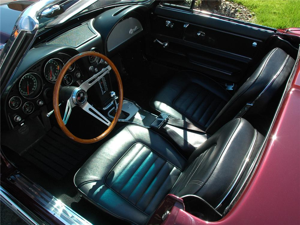 1966 CHEVROLET CORVETTE CONVERTIBLE - Interior - 81791