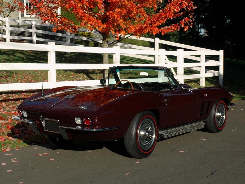 1966 CHEVROLET CORVETTE CONVERTIBLE - Rear 3/4 - 81791