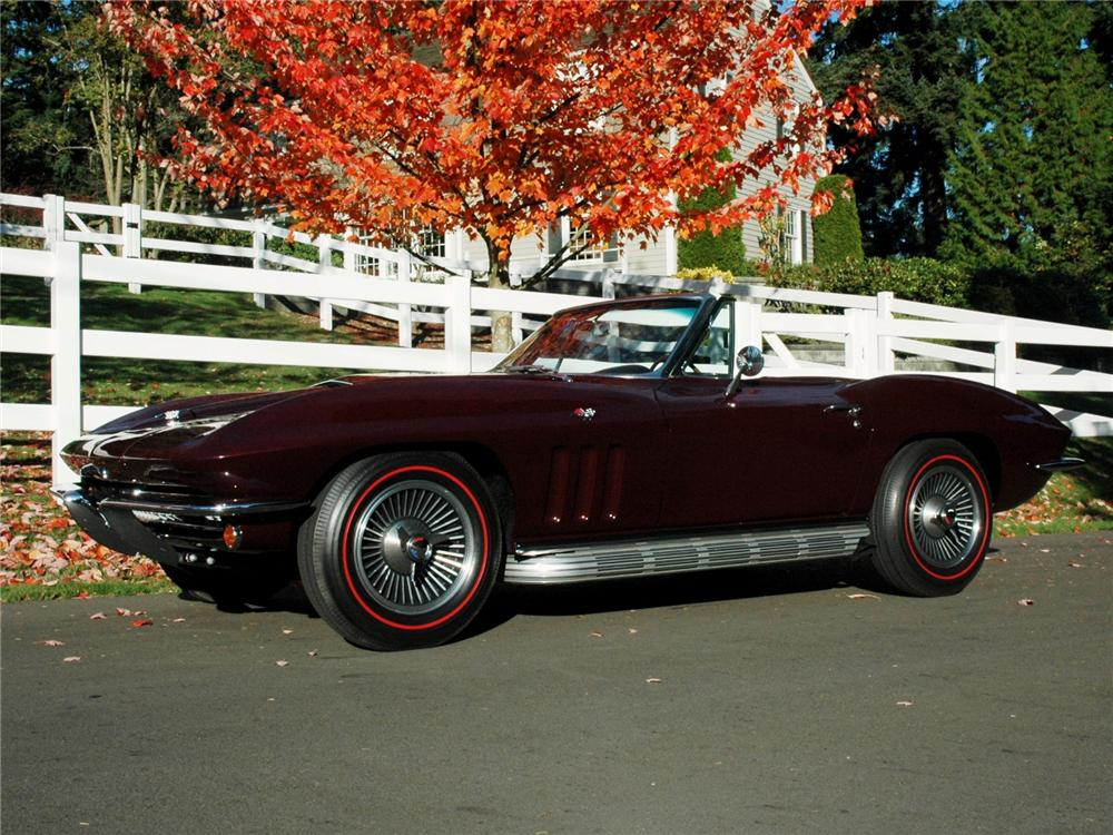 1966 CHEVROLET CORVETTE CONVERTIBLE - Side Profile - 81791