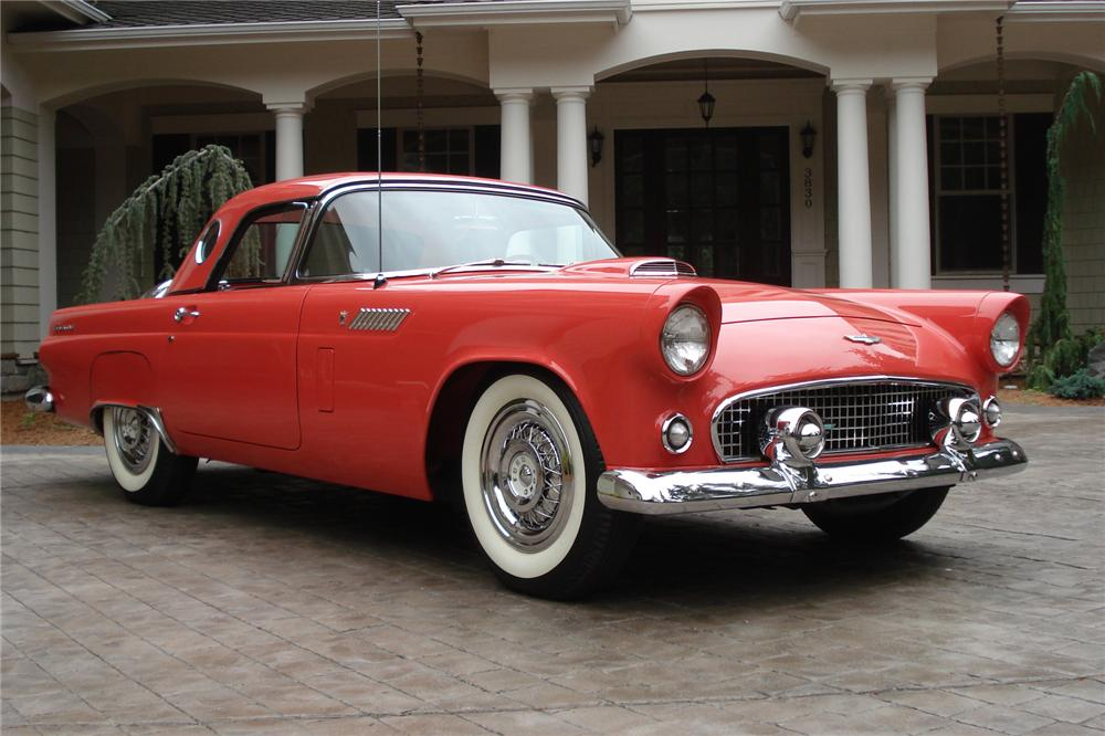 1956 FORD THUNDERBIRD CONVERTIBLE - Front 3/4 - 81793
