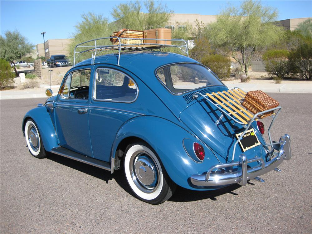 1966 VOLKSWAGEN BEETLE 2 DOOR SEDAN - Rear 3/4 - 81801
