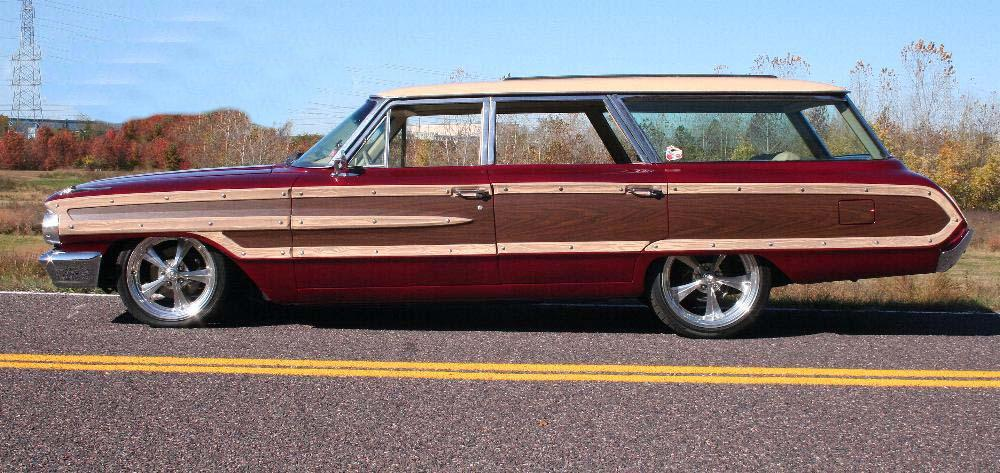 1964 FORD COUNTRY SQUIRE CUSTOM STATION WAGON - Side Profile - 81813