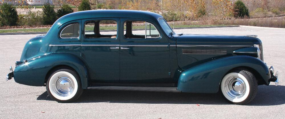 1937 BUICK CENTURY CUSTOM SEDAN - Side Profile - 81814