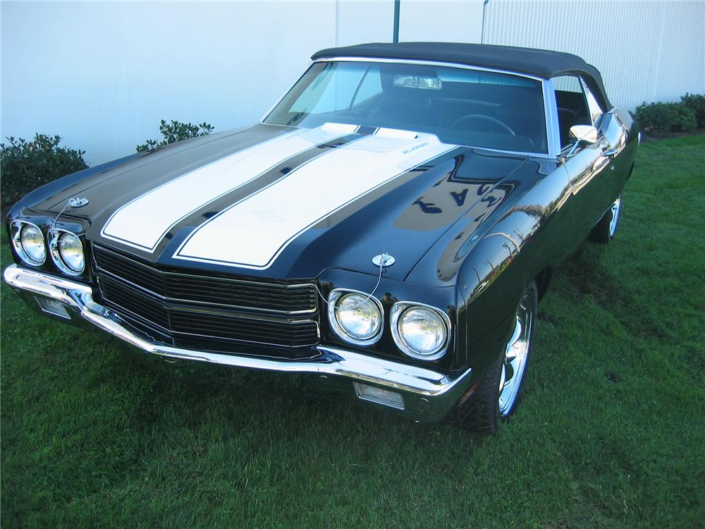1970 CHEVROLET CHEVELLE SS CUSTOM CONVERTIBLE - Front 3/4 - 81821