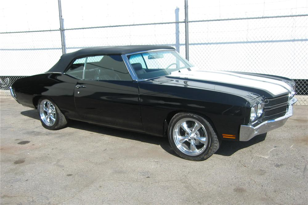 1970 CHEVROLET CHEVELLE SS CUSTOM CONVERTIBLE - Side Profile - 81821