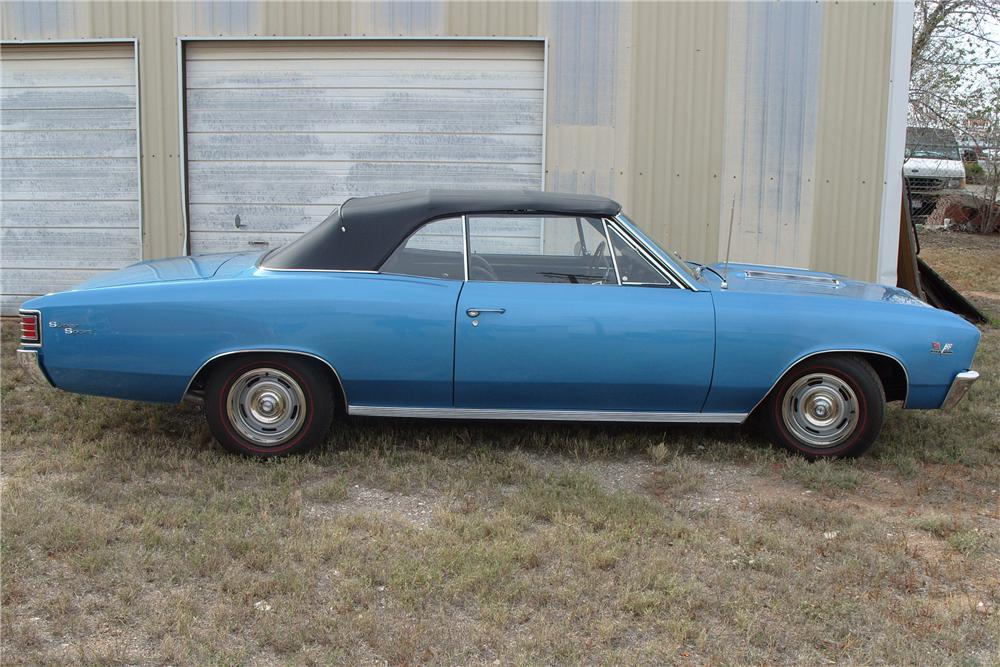 1967 CHEVROLET CHEVELLE SS 396 CONVERTIBLE - Side Profile - 81822