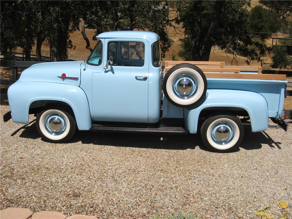 1956 FORD F-100 PICKUP - Side Profile - 81851