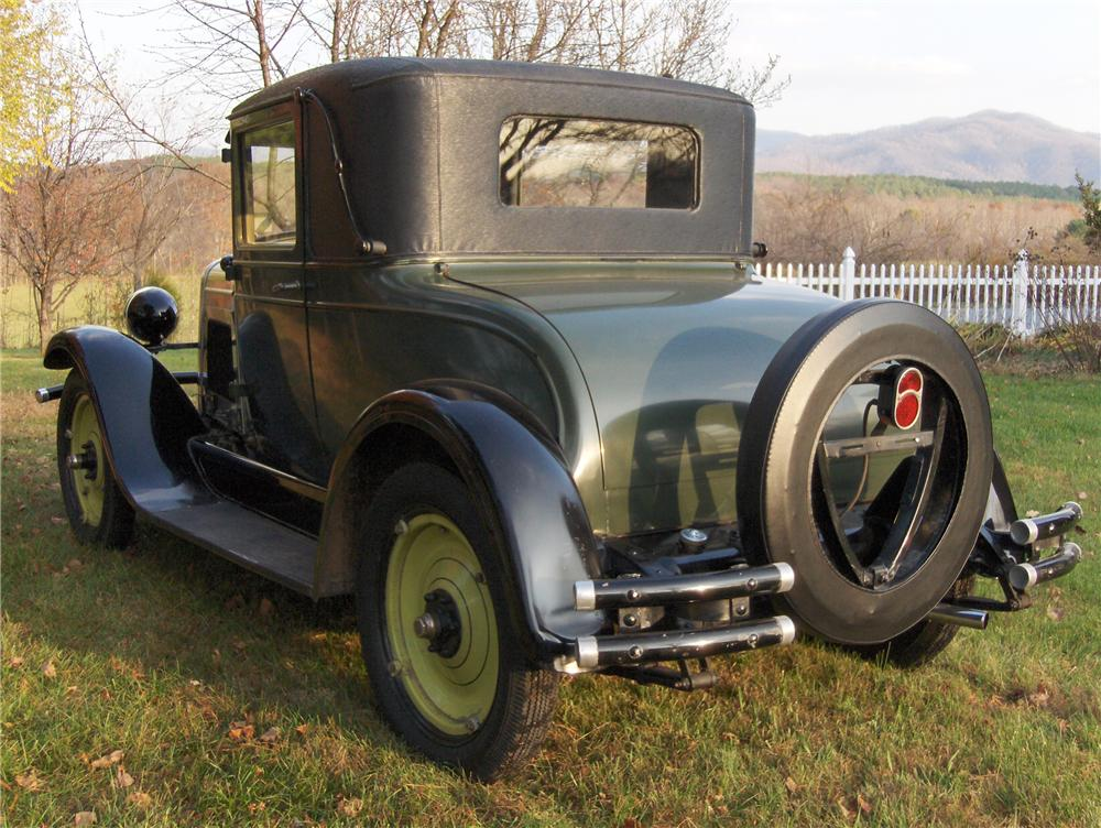 1928 CHEVROLET AB NATIONAL 2 DOOR COUPE - Rear 3/4 - 81862
