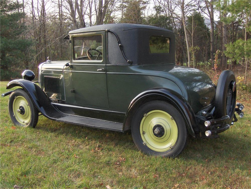 1928 CHEVROLET AB NATIONAL 2 DOOR COUPE - Side Profile - 81862