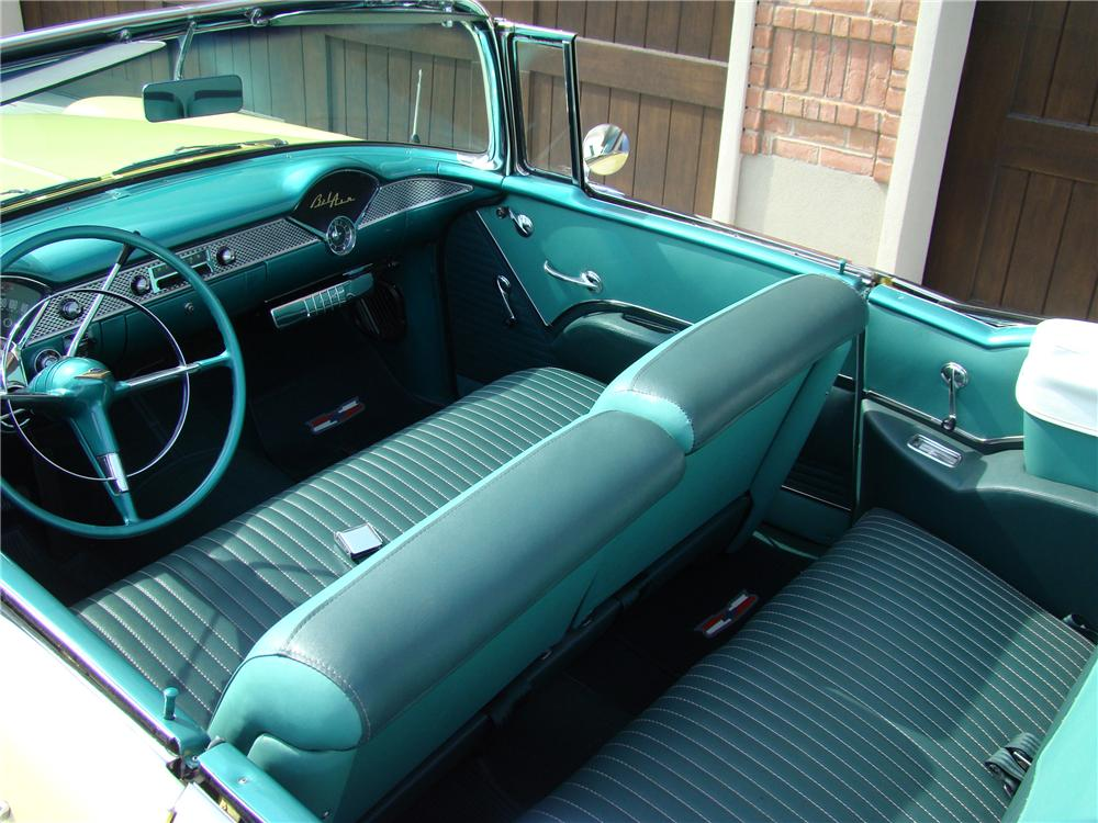 1955 CHEVROLET BEL AIR 2 DOOR CONVERTIBLE - Interior - 81868