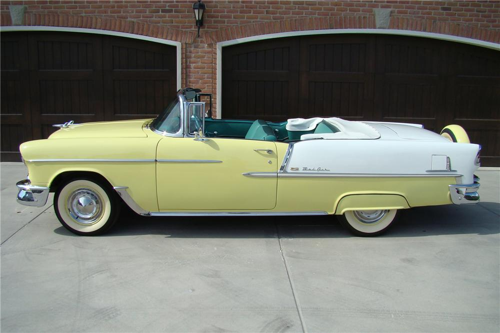 1955 CHEVROLET BEL AIR 2 DOOR CONVERTIBLE - Side Profile - 81868