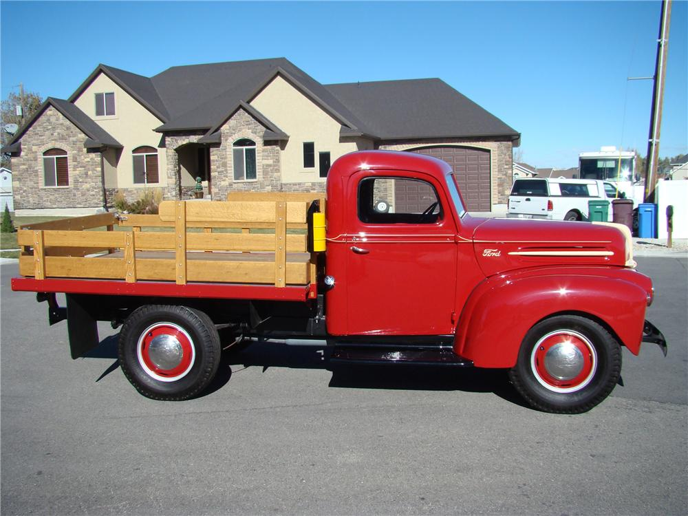 1947 FORD 1 TON FLATBED TRUCK - Side Profile - 81872