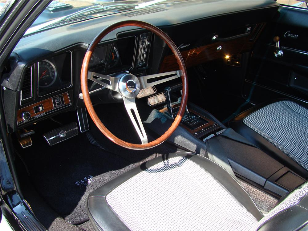 1969 CHEVROLET CAMARO 2 DOOR COUPE - Interior - 81874