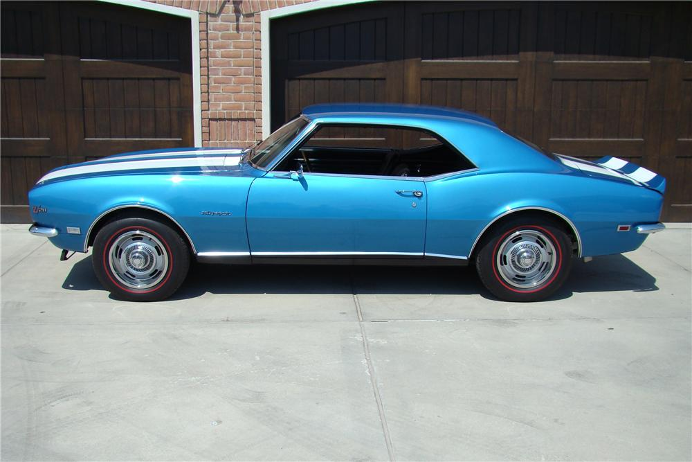 1968 CHEVROLET CAMARO Z/28 RS COUPE - Side Profile - 81876