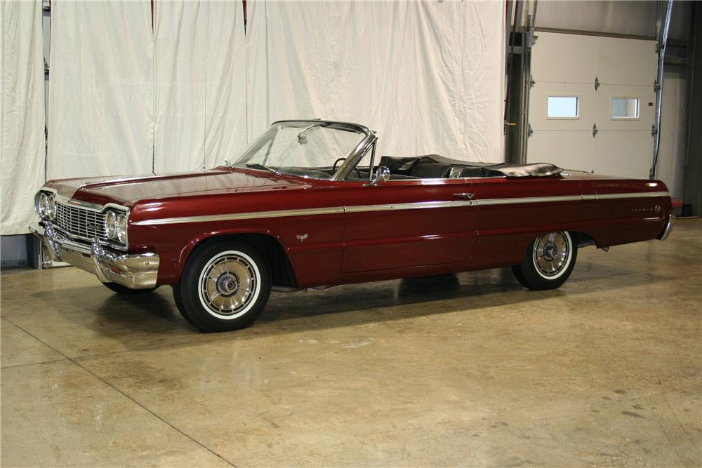 1964 CHEVROLET IMPALA SS CONVERTIBLE - Front 3/4 - 81891