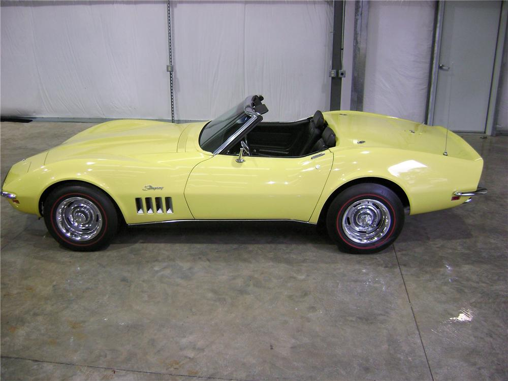 1969 CHEVROLET CORVETTE CONVERTIBLE - Side Profile - 81897
